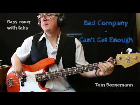 Bad Company – Can't Get Enough (Bass cover with tabs)