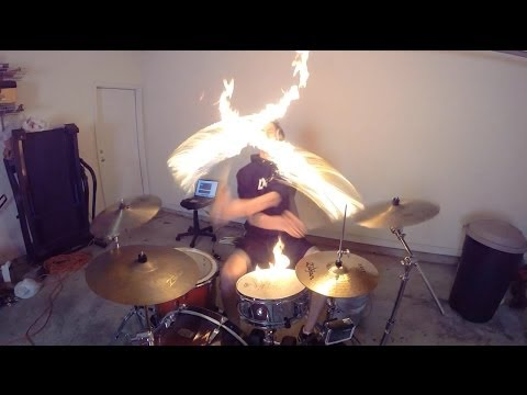 Burn – Drum Cover with Fire Sticks – Ellie Goulding – Drumming With Fire (Brit Awards 2014 song)