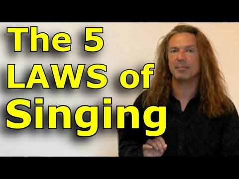 Singing Lessons For Beginners – The 5 Laws Of Singing – Learn Singing with Ken Tamplin